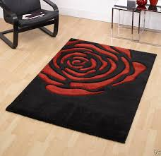 stylish black and red rugs area rug lovely round grey on