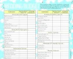 Wedding Planning Sheet Template