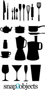 kitchen utensils silhouette vector free. Download Free Vector Kitchen Appliances Silhouettes Utensils Silhouette