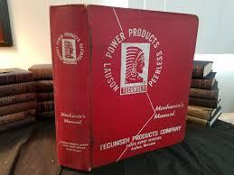 Tecumseh Peerless Lauson Power Products Manual Many Sections 1970 1998 Ebay