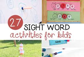 Activities Word 27 Awesome Sight Word Activities The Letters Of Literacy