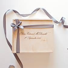 custom engraved wooden gift bo the bridal box co