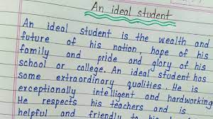 an ideal student essay in english you