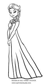 Disegno Da Colorare Di Elsa A Figura Intera