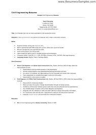Entry Level Civil Engineer Resume Resume Sample