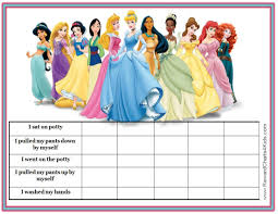 Disney Princess Behavior Chart Disney Princesses Printable Potty Chart Potty Sticker