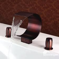 oil rubbed bronze waterfall bathroom faucet luxury oil rubbed bronze waterfall bathroom tub faucet 5 hand oil rubbed bronze waterfall