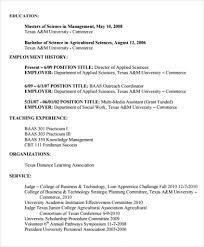 Sample Agriculture Resume 6 Documents In Pdf Resume Format For