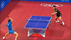 professional table tennis match