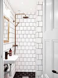 Black And White Tile Bathroom Decorating Ideas Best 25 White Tiles ...