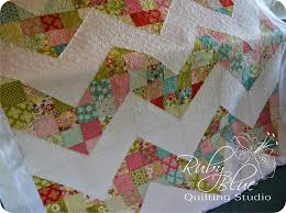 Ruby Blue Quilting Studio: Machine Quilting: Large Chevron & Beth made this quilt and wanted a unique style of quilting to show off the  difference between the scrappy chevron and the plain stripe. Adamdwight.com