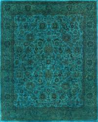 rugsville turquoise wool overdyed 12250 rug 8x10 contemporary area rugs by rugsville