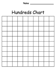 Blank 100 Chart Free Blank Hundreds Chart