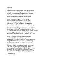essay on curley in of mice in men by purplemist teaching a fun engaging lesson analysing a carol ann duffy poem stealing for year