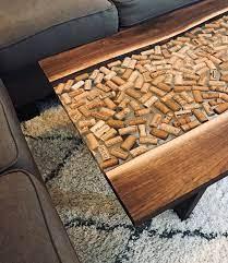 walnut wine cork coffee table living