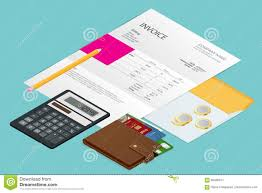 How Are Credit Card Payments Calculated Isometric Single Invoice Calculator And Credit Cards Payment And