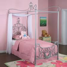 Amazon.com: Bundle-88 Princess Rebecca Twin Size Canopy Bed in ...