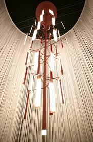 the wish tree hanging chandelier with advanced technology oled
