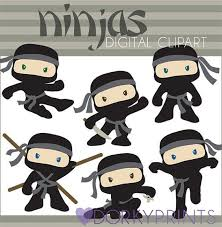 ninja party clipart. Fine Party Ninja Clipart Set Personal And Limited Commercial By DorkyPrints In Party D