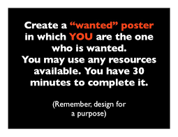 Wanted Poster Design Challenge
