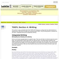 test prep pearltrees toefl practice section 4 writing