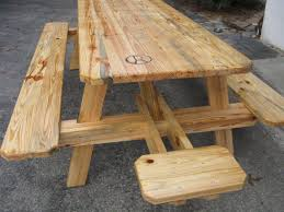 large size of round wood picnic table with benches with round wooden picnic table with benches