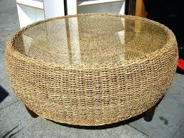 round wicker coffee table wicker ottoman coffee table wicker coffee table with glass top round wicker