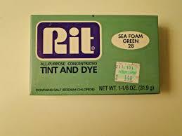 Rit Fabric Dye Color Chart Rit Powder Dye Sea Foam Green 28 Old Formula Retired Color Rare
