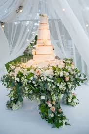 flower stands for weddings. tall white wedding cake with rose gold ribbon fresh flowers flower stand display stands for weddings