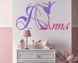 dancing name and monogram decal