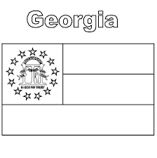 Small Picture Georgia State Flag Coloring Page Color Luna
