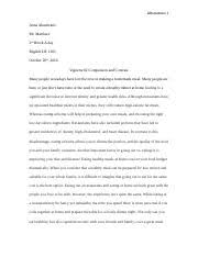 bill of rights essay the first amendments to the united  1 pages vignette 2 comparison and contrast docx