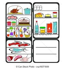 open refrigerator clipart. refrigerator with food - csp16071649 open clipart t