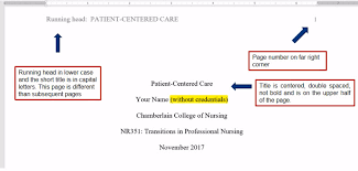 Style Format How To Use Apa Format A Nursing Students Guide