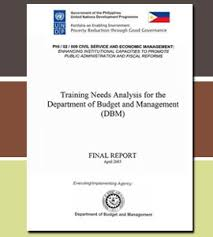 Training Needs Analysis (Tna) In The Department Of Budget And ...