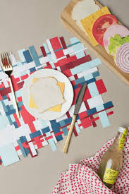 Designer Paper Placemats Homemade Placemat Ideas