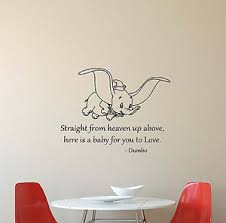 image is loading dumbo disney wall decal quote vinyl sticker poster  on wall art bedroom stickers with dumbo disney wall decal quote vinyl sticker poster baby nursery
