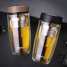 Details about Water Glass Bottle Tumbler <b>400ML Stainless Steel</b> ...