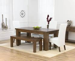 table 4 chairs and bench. palermo dark oak dining table \u0026 4 marcello ivory chairs bench - furniture has an air of quality with chunky legs on the tables and k