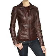 las leather jacket women brown leather jacket