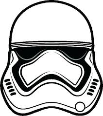 Stormtrooper Mask Printable Star Wars Coloring Pages Storm Trooper