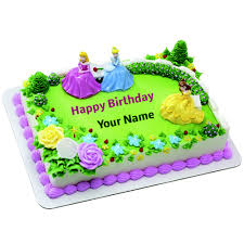 Happy Birthday Barbie Doll Cake With Your Name