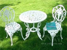 wrought iron wicker outdoor furniture white. Cast Iron Patio Furniture Wrought Bistro Set Simple White Wicker Outdoor D