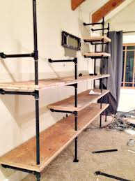 diy industrial pipe shelves twelve on main metal pipe bookshelf