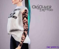 скачать дополнение женский рукав Oksoliver для симс 4