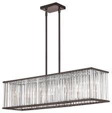 aruba 7 light horizontal crystal chandelier