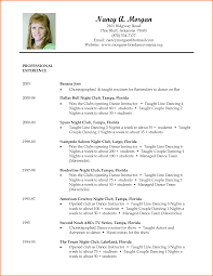Dance Resume For College Dancer Resume Samples Cover Letter Sample Event Planning 10