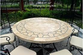 60 round patio table inch