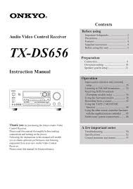 Onkyo Tx Ds656 Users Manual Manualzz Com
