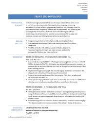 Front End Developer Sample Resume front end developer resume Savebtsaco 1